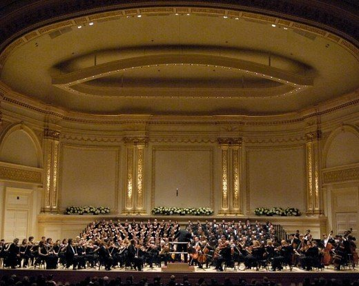 New York Philharmonic Orchestra and The Westminster Symphonic Choir at Carnegie Hall.  Photo by Yorkshire Railman