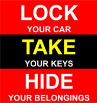 Always a good idea to lock your car!