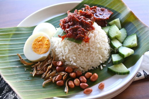 National food of Malaysia - Nasi Lemak