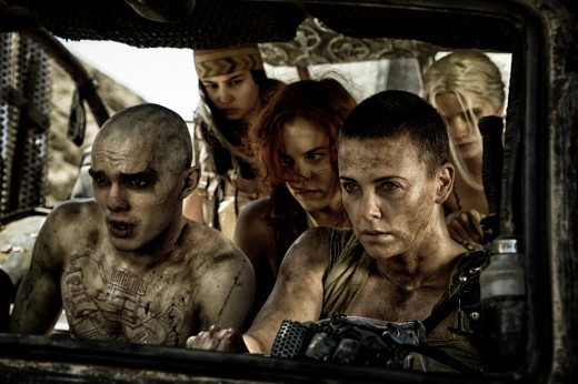 Left: Nicholas Hoult as Lux, Right: Charlize Theron as Furiosa