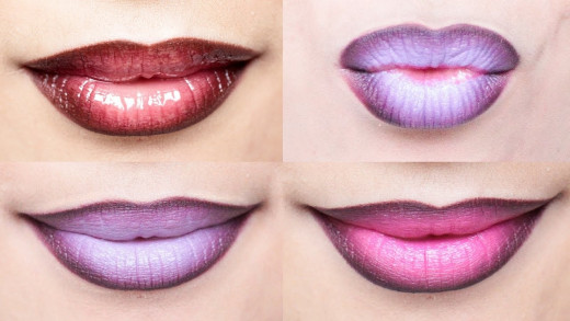 Bright ombré lips
