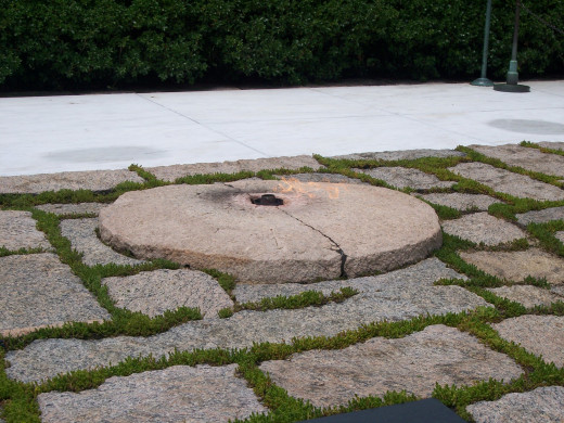 The Eternal Flame honoring United States President John F. Kennedy at Arlington National Cemetery.