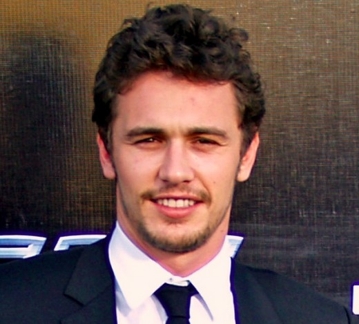 James Franco's characteristically scraggy beard.