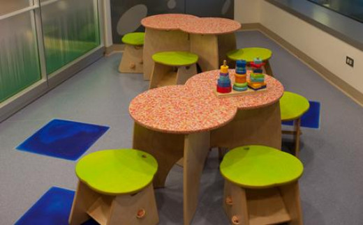 Kids activity stations and play stations that are eco-friendly.