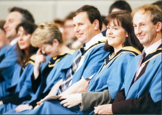 The ideal graduation scene.
