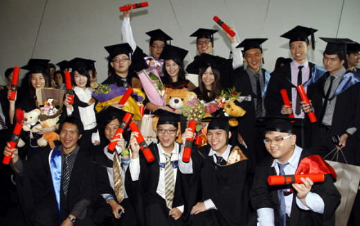 More happy graduates.
