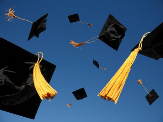 These mortar boards look so well in the air.
