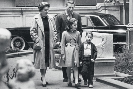 Heller and family in 1962, shortly after the publication of Catch-22