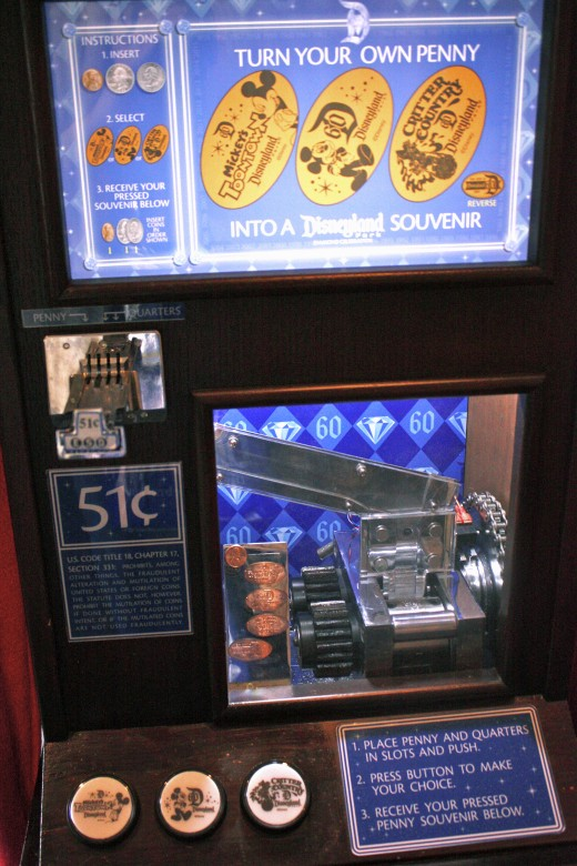 One of the limited edition penny machines.
