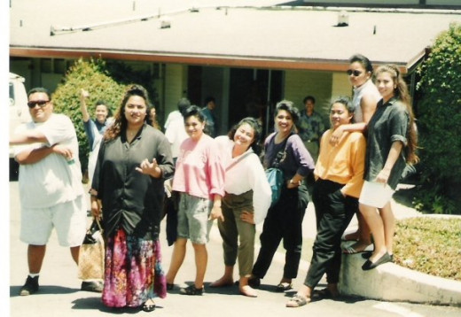Students at Liahona High School, Tonga My daughter is on the far right.