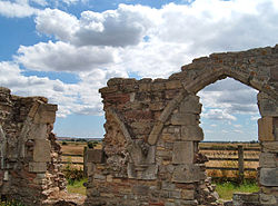 At the end of the road is a ruin that speaks so much of History