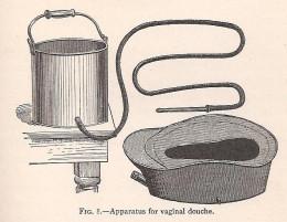 Vaginal douche apparatus for good hygiene