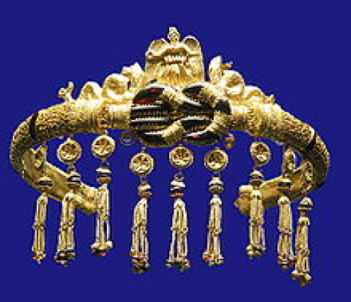 Magical things could be scavenged from shipwrecks in the old days. This is ancient Greek jewelry from 300 BC.
