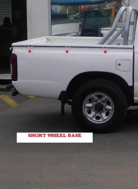 This is a Short Wheel Base Bin as shown in the picture. 4 or less show SWB..