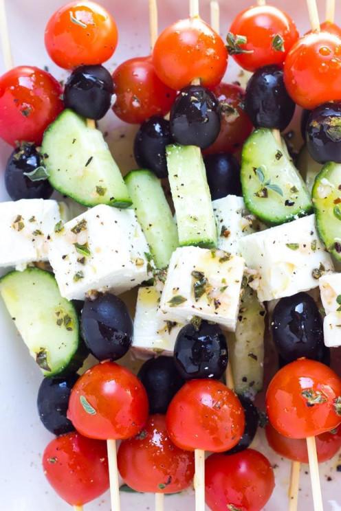 1. Greek Skewer Salad