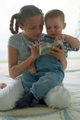 Most oldest children look after their youngest siblings on occasion unless they're very close in age.However, there's a marked difference between oldest children looking after younger siblings occasionally & doing this on a consistent basis.