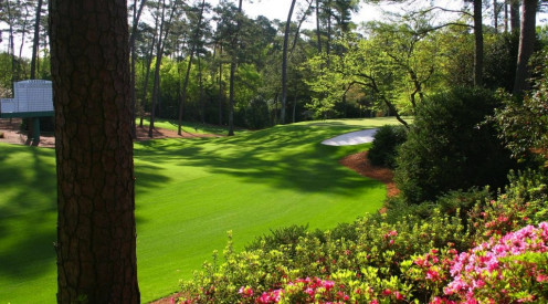 10th hole at Augusta National, home of The Masters.