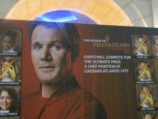"Gordon Ramsey Pub & Grill, is one of the restaurants in the lobby area. ""This award winning chef brings his Vegas restaurant to the Jersey shore in his in first restaurant in Atlantic City."""