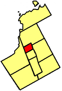 Map location of Newmarket in York Region, Ontario