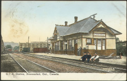 Postcard of G.T.R. Station, Newmarket, Ontario, Canada, 1910