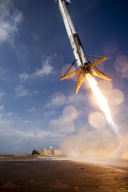 Falcon 9 booster landing attempt