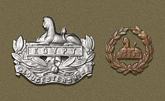 The only Regiment to wear two cap badges, one at the front of the Beret and one at the back, They're used to fighting back to back