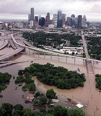 Photo of Houston Flooding after Tropical Storm Allison.