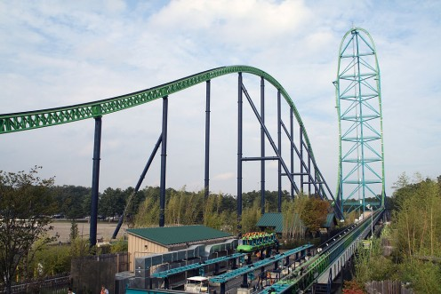 Kingda Ka is the world's tallest roller coaster, and is the second strata coaster in the world.