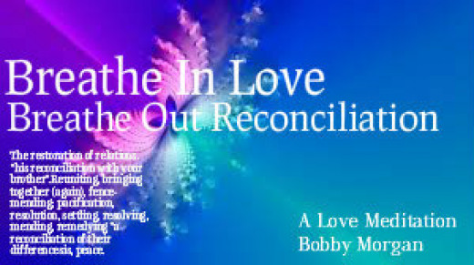 """Reconciliation for me, is a chance to restore the good that was lost. We start fresh, each person filled with mercy, reestablishes themselves, seeing the world through the each others eyes. We are now one in Spirit, all our sins are forgotten."""