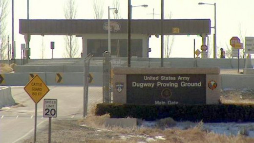 Entrance to the Dugway Proving Ground.