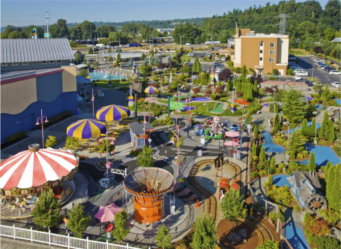 Tukwila Family Fun Center, just south of Seattle. Venues like this have become more popular options for struggling families.