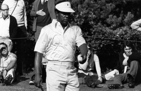 Lee Elder, the first African American to play at The Masters in 1975.