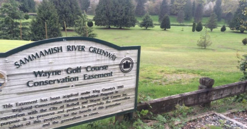 Wayne Golf Course in Bothell, WA. The term conservation easement is often being redefined by greedy politicians and developers.