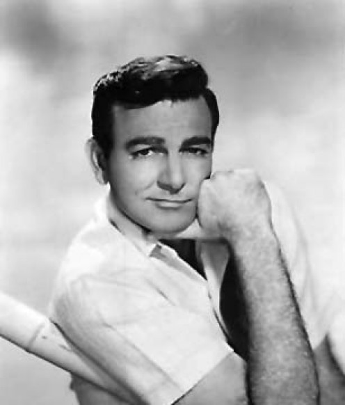 A clean-cut Mike Connors in his early acting career.