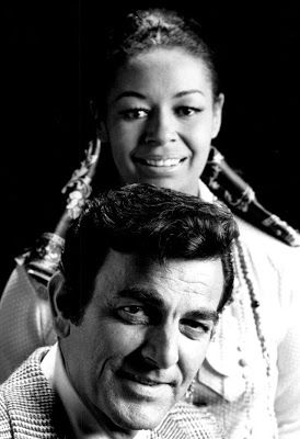 "Connors with Gail Fisher as ""Peggy"" on ""Mannix."