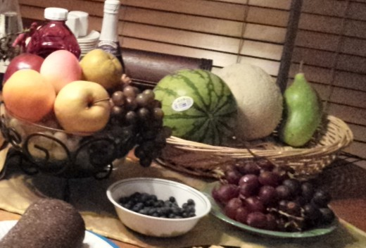 Fresh fruits for centerpieces