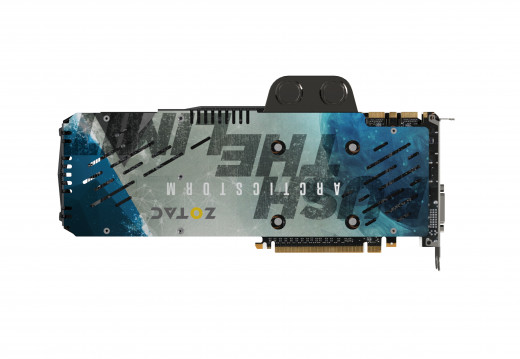 Zotac GTX 980Ti Arctic Storm's got a sweet looking backplate