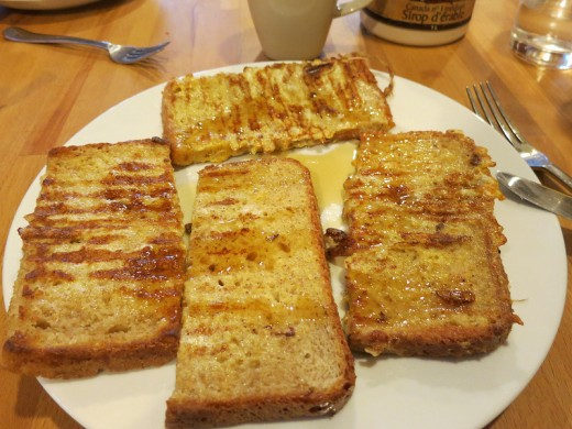 French Toast served with honey