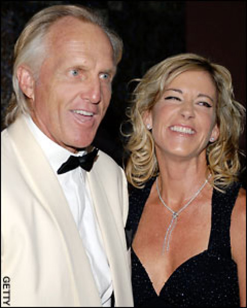 """Golf great, Greg Norman once had the beautiful Chris Everett as a girlfriend. Now she is his """"ex."""""""