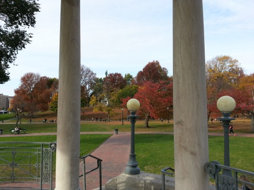 Boston's many public parks are a haven for strollers.