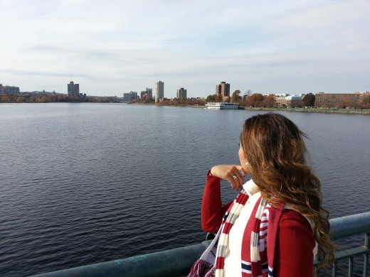 The Charles River between Cambridge and Boston