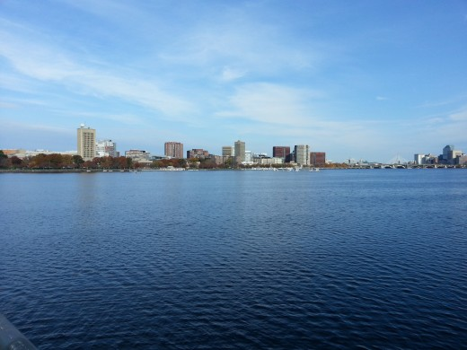 Boston University lies directly across the Charles River from M.I.T.