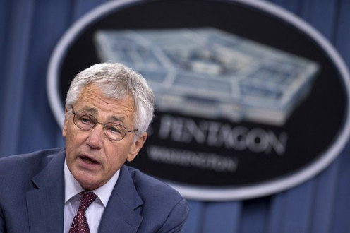 Chuck Hagel, Sec. of Defense.