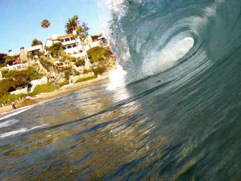 Crescent Bay Wave Barrel Shot Laguna Beach