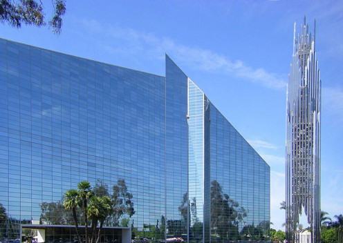 The Crystal Cathedral in Garden Grove near Anaheim.