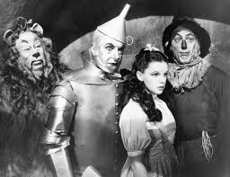 (from left) Burt Lahr; Jack Haley; Judy Garland, and Ray Bolger, who without a question is the most-famous scarecrow of all time.