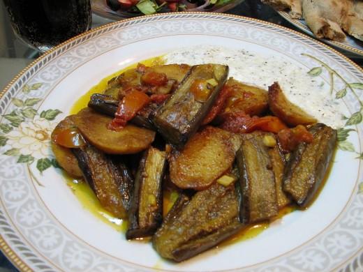 Aloo Baingan subzi (Potato Eggplant)