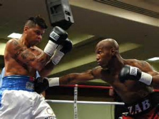 I was fortunate enough to watch this bout live in Mississippi. It was stopped after just one round because of a sever cut which was an accidental headbutt.