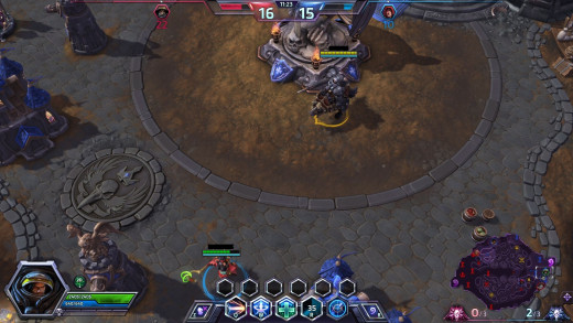 The maps have their little differences, but it's still typical MOBA fare.