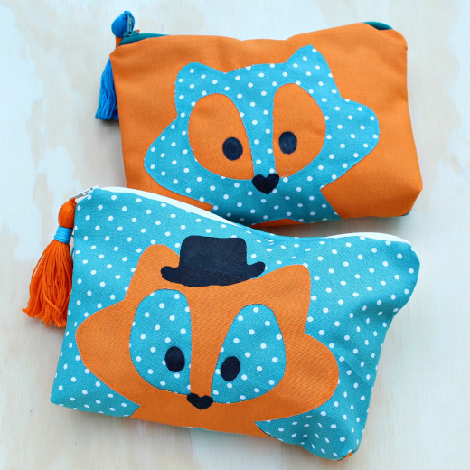 Foxy Makeup Bag DIY